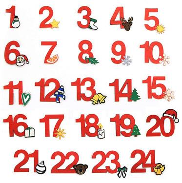 24 Adventskalender Zahlen Aus Stoff Zum Aufbügeln
