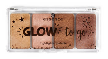essence Adventskalender 2018 Glow to go Highlighter Palette in 010 sunkissed glow