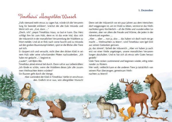 Inhalt Das Weihnachtsfest der Tiere Folien-Adventskalender 2016
