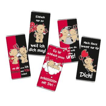 fünf Mini Vollmilch Schokoladen Füllidee Adventskalender Frauen
