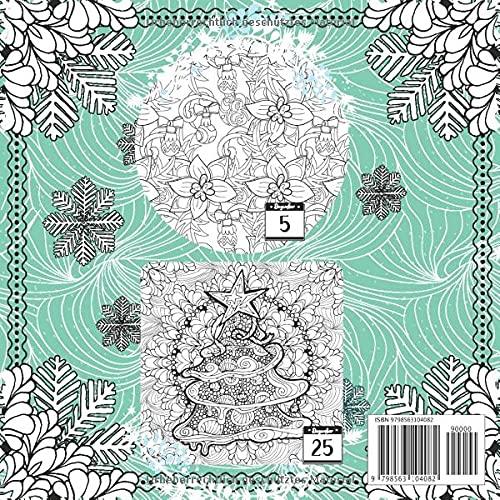 Adventskalenderbuch Malbuch Mandalas Inhalt