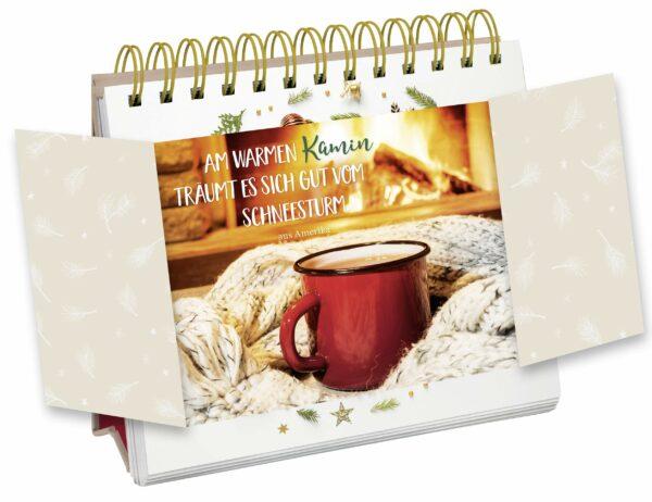 Tisch-Adventskalender mit Sprüchen - Beispielseite - Inhalt