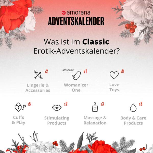 Amorana Classic erotischer Adventskalender 2021 - Inhalt