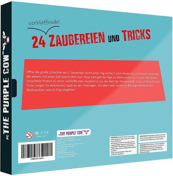 Countdown Zaubertricks Adventskalender 2021 PC the Purple Cow