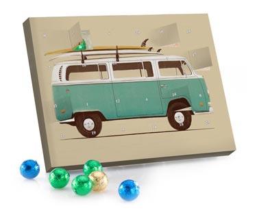 Adventskalender Schokolade Blue Van