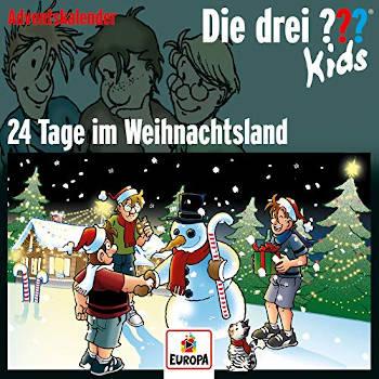 Die drei Fragezeichen Kids Adventskalender- 24 Tage im Weihnachtsland