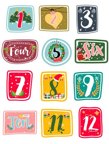 Bild Adventskalender Zahlen Virginia zum Download