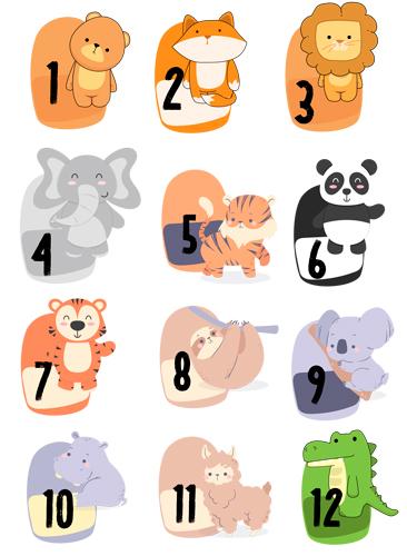 Bild Adventskalender Zahlen Zoo zum Download