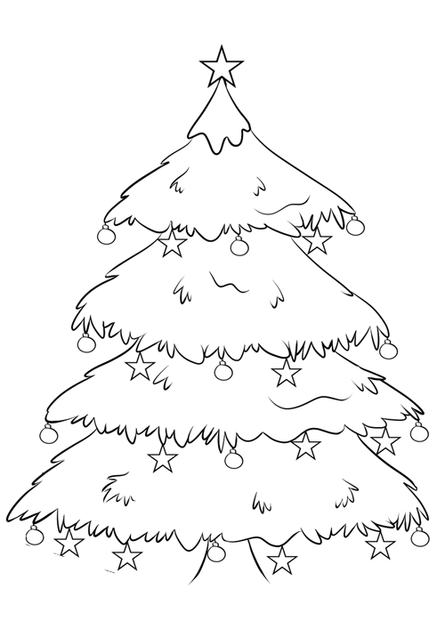 Weihnachtsbaum - Ausmalbild