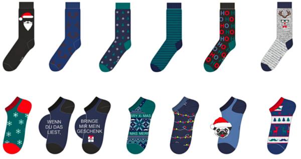 Adventskalender Socken Inhalt Herren - 2021