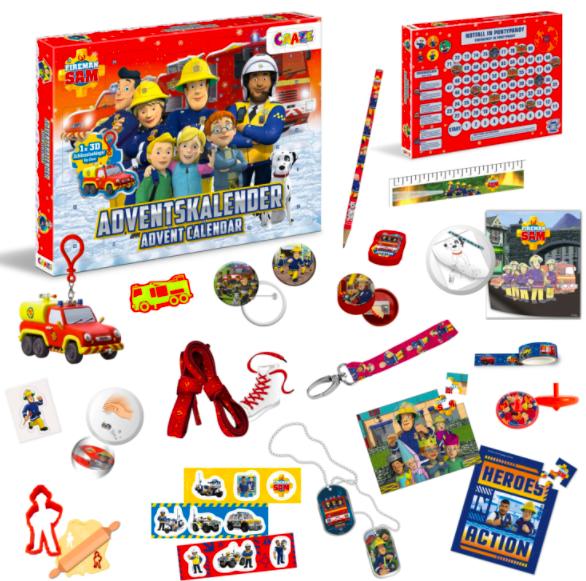 Craze Feuerwehrmann Sam Adventskalender - Inhalt - 2021