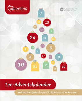 Bio Tee Adventskalender Amorebio 2017