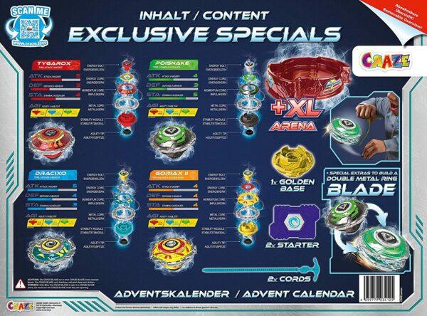 CRAZE Blade Adventskalender - Inhalt - Bild 2