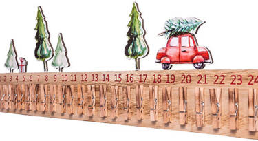 Holzklammer DIY Kalender