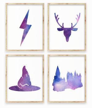 Füllen Harry Potter Printable Aquarell