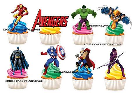 Avengers Figuren Cupcake-Dekoration