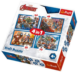 Puzzle, Avengers, 4-in-1