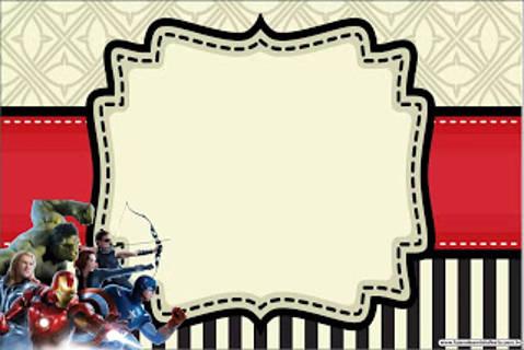 Avengers Karte zum kostenlosen Download und Ausdruck