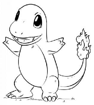 Adventskalender Füllen Pokémon Ausmalbild Charmander