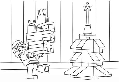 Füllen Adventskalender Ausmalbild Lego