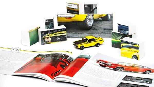 Inhalt - Franzis 55145-0 Adventskalender Opel Manta 2021