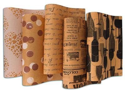 Geschenkpapier mit Schrift
