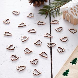 Holzkonfetti Weihnachten Deko Adventskalender Füllen Frauen
