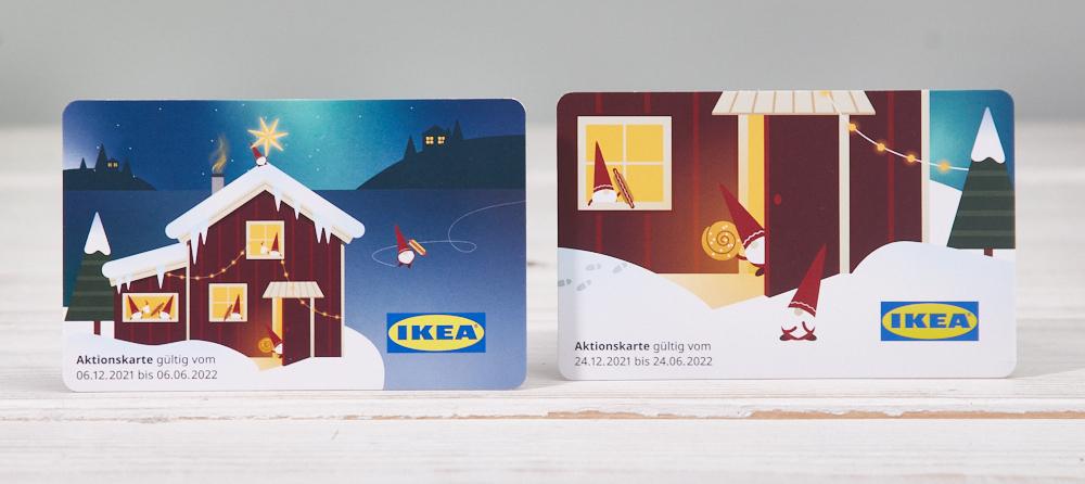Aktionskarten Gutscheinkarten Ikea Adventskalender 2021