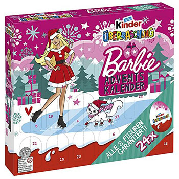 Kinder Ueberraschung Barbie Adventskalender 2016