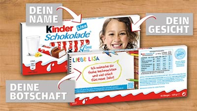 Kinderschokolade aktion 2016