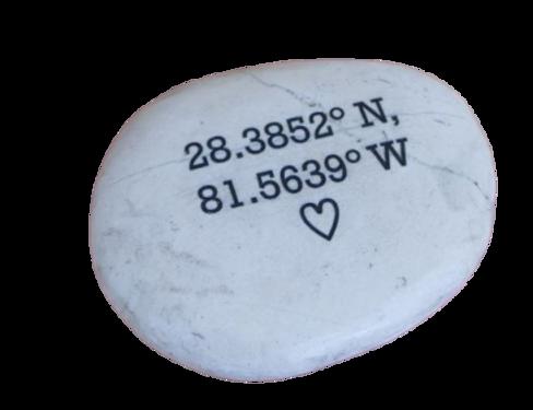 Koordinaten Geschenk Gravierter Stein