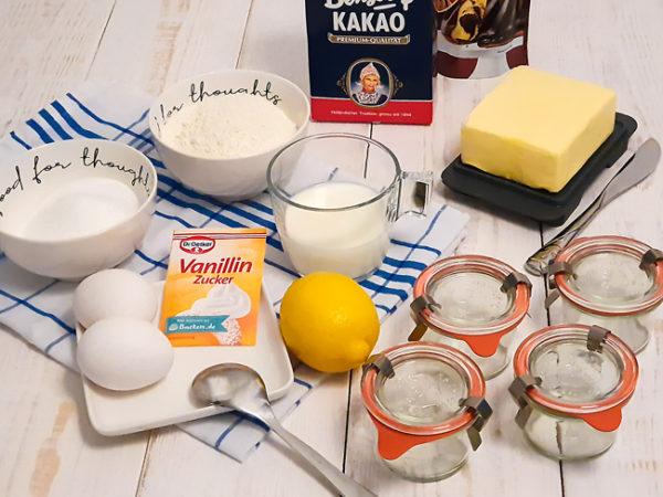 Kuchen in Glas Zutaten