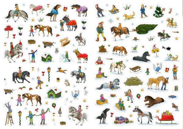 Inhalt - Mein Sticker-Adventskalender Pferde 2021