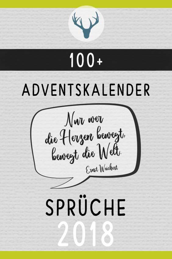 100 Adventskalender Sprüche Inspirierend Emotional Lustig