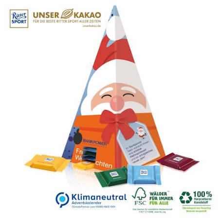 Nachhaltiger ökologischer Pyramidenadventskalender
