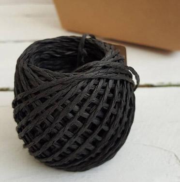 Papierbast-schwarz