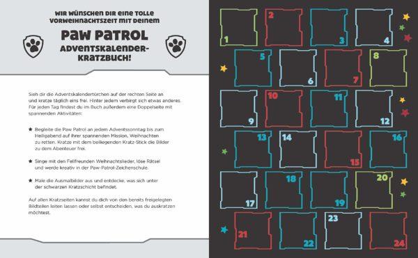 Paw Patrol Kratzbuch Inhalt