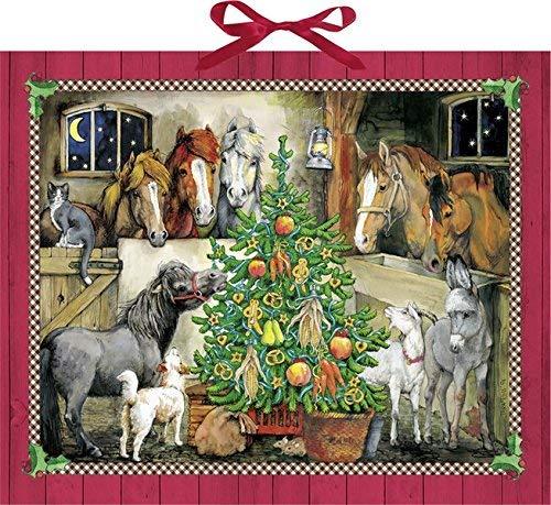 Pferde Weihnacht Adventskalender Schokolade