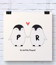 Pinguin-Pärchen-Poster
