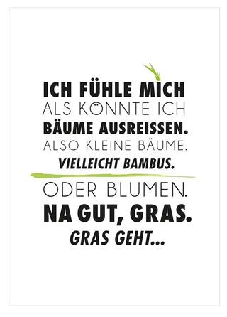 Postkarte Gras Ausreissen