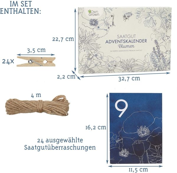 Saatgut Adventskalender 2020 Inhalt