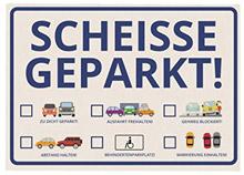 Scheisse-geparkt-Haftnotizen