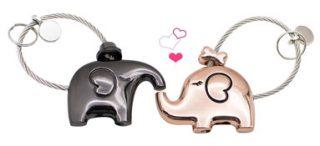 Schlüsselanhänger-küssender-Elefant