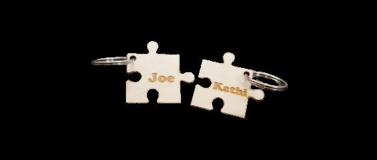 Puzzle Schlüsselanhänger aus Birkenholz Füllidee Adventskalender Frauen