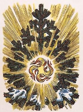 Vorweihnachten Adventskalender Geschichte, Adventskalender im Dritten Reich, Sonnenrad