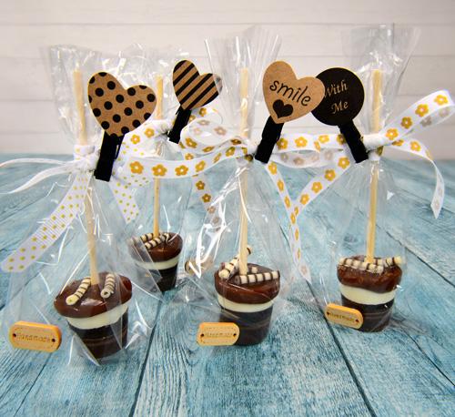 DIY Trinkschokolade mit Karamell als Geschenk