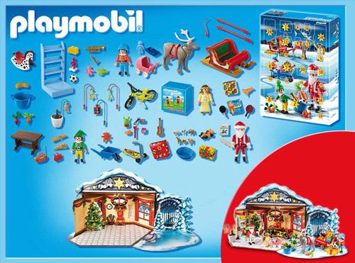 Weihnachtsmann-beim-Geschenkepacken-Adventskalender-2013
