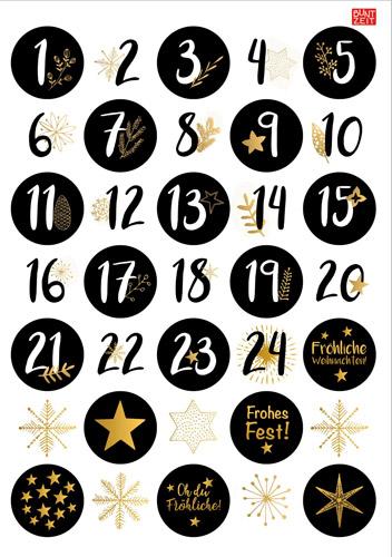 Zahlenaufkleber-Weihnachtsmotive
