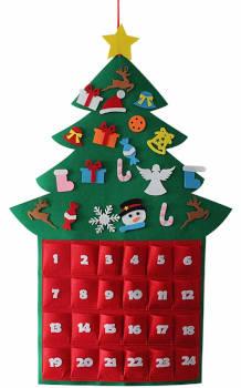 amosfun adventskalender hängender weihnachtsbaum