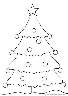Ausmalbild Kleinkinder Weihnachtsbaum